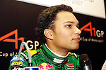 DURBAN - 23 February 2007 - Adrian Zaugg, 21, the driver for Team South Africa speaks to the media at the end of Day 1 at the A1 Grand Prix in Durban..Picture: Giordano Stolley/Allied Picture Press