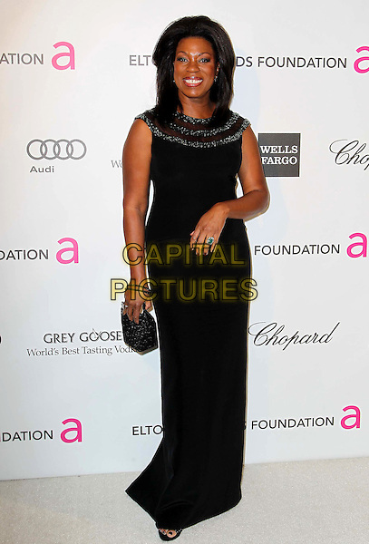 Lorraine Toussaint.21st Annual Elton John Academy Awards Viewing Party held at West Hollywood Park, West Hollywood, California, USA..February 24th, 2013.oscars full length dress sleeveless black clutch bag.CAP/ADM/KB.©Kevan Brooks/AdMedia/Capital Pictures.