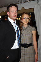 "MATTHEW MacFADYEN & KEIRA KNIGHTLEY.2005 Toronto Film Festival - ""Pride and Prejudice"" Premiere held at Roy Thompson Hall, Toronto, Ontario..September 11th, 2005.Photo Credit: Laura Farr/AdMedia.half length grey gray sleeveless dress plaid check black suit jacket blue tie.www.capitalpictures.com.sales@capitalpictures.com.© Capital Pictures."