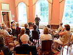 Poet Neil McCarthy pictured at the Boyne Music festival held at Townley Hall house. Photo:Colin Bell/pressphotos.ie