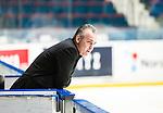 Stockholm 2014-11-16 Ishockey Hockeyallsvenskan AIK - IF Bj&ouml;rkl&ouml;ven :  <br /> AIK:s VD Johan Segui i ett b&aring;s p&aring; Hovet efter matchen mellan AIK och IF Bj&ouml;rkl&ouml;ven <br /> (Foto: Kenta J&ouml;nsson) Nyckelord:  AIK Gnaget Hockeyallsvenskan Allsvenskan Hovet Johanneshov Isstadion Bj&ouml;rkl&ouml;ven L&ouml;ven IFB portr&auml;tt portrait depp besviken besvikelse sorg ledsen deppig nedst&auml;md uppgiven sad disappointment disappointed dejected