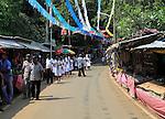 Road leading to Koneswaram Kovil Hindu temple, Trincomalee, Sri Lanka, Asia