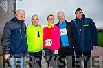 John Griffin, Gerry Lee, Morna O'Halloran , Mike O'Halloran, Morgan Nix at the Kerins O'Rahilly's '1916' 10k Run on Sunday