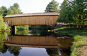 Corbin Covered Bridge, which crosses the Sugar River in Newport, New Hampshire.