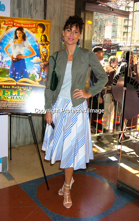 "Minnie Driver ..at The Premiere of ""Ella Enchanted""  on March 28, 2004 ..at the Clearview Beekman Theatre in New York City. ..Photo by Robin Platzer, Twin Images"
