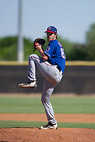 Texas Rangers pitcher Ryan Dease (87) delivers a pitch to the plate during an Instructional League game against the San Diego Padres on September 20, 2017 at Peoria Sports Complex in Peoria, Arizona. (Zachary Lucy/Four Seam Images)