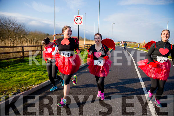 Sarah Jenningsm Betty Brosnan and Edel Broderick, participants in the Kerry's Eye Valentines Weekend 10 mile road race on Sunday.