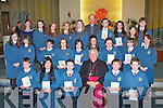 Pupils from Ms Sugrues class at Scoil Eoin Balloonagh, Tralee, who made their confirmation in St Brendans Church, Tralee, on Friday were front l-r: Tom Guerin, AJ Anne Ybanez, Cameron McGrath, Bishop Bill Murphy, Liam OLeary, Rory OConnor. Middle l-r: Aisling McLoughlin, Charlie Wall, Amy Roche, Tamara OBrien, Katie Dennehy, Ali Feely, Tenisha Purcell, Shauna McGrath, Malwina Janik. Back l-r: Emma Sugrue (teacher), Laura Shanahan, Kasey OConnor, Leah Corcoran, Avril Fitzgerald, Fr. Padraig Walsh, Makayla Chester, Geraldine Knightly, Klaudia Simachowicz, Lauren Quinn.