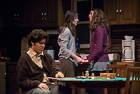 From left, Alexander Waxler '18, Lindsay Fisher '17 and Shea Backes '18. The Occidental College Theater Department presents Refuge by Jessica Goldberg, directed by Culley guest artist Chris Fields, Keck Theater, Nov. 5, 2014. (Photo by Marc Campos, Occidental College Photographer)