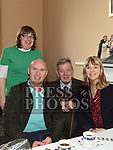 Eileen McLoughlan, Colm Naughton, Mary Hughes and Ernie McCarthy at the Dominican's coffee morning. Photo:Colin Bell/pressphotos.ie