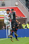 17.03.2019, BayArena, Leverkusen, GER, 1. FBL, Bayer 04 Leverkusen vs. SV Werder Bremen,<br />  <br /> DFL regulations prohibit any use of photographs as image sequences and/or quasi-video<br /> <br /> im Bild / picture shows: <br /> Kopfballduell zwischen  Wendell (Leverkusen #18), Theodor Gebre Selassie (Werder Bremen #23), <br /> <br /> Foto © nordphoto / Meuter