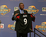 16 January 2004: Freddy Adu was select with the first overall pick by DC United. The Major League Soccer SuperDraft was held at the Charlotte Convention Center in Charlotte, NC as part of the annual National Soccer Coaches Association of America convention...