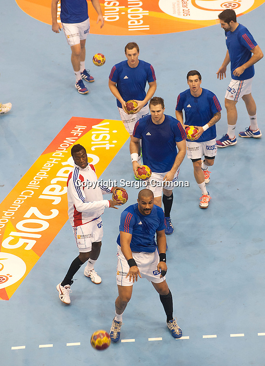 23rd IHF Men's World Championship; FRA-ARG.Warm Up (FRA).