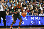 24 February 2012: Miami's Shenise Johnson. The Duke University Blue Devils defeated the University of Miami Hurricanes at Cameron Indoor Stadium in Durham, North Carolina in an NCAA Division I Women's basketball game.