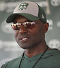 Todd Bowles, New York Jets Head Coach, speaks with the media after team practice at the Atlantic Health Jets Training Center in Florham Park, NJ on Sunday, July 29, 2018.