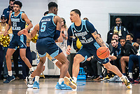 WASHINGTON, DC - FEBRUARY 8: Tyrese Martin #4 of Rhode Island on the attack during a game between Rhode Island and George Washington at Charles E Smith Center on February 8, 2020 in Washington, DC.