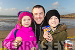 Sophie, David and Ronan Brick from Tralee at Ballyheigue Races on New Years Day.