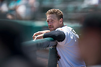 Sacramento RiverCats right fielder Hunter Pence (40) on a rehab assignment during a Pacific Coast League against the Tacoma Rainiers at Raley Field on May 15, 2018 in Sacramento, California. Tacoma defeated Sacramento 8-5. (Zachary Lucy/Four Seam Images)