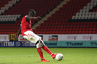 Mouhamadou-Naby Sarr of Charlton Athletic sccores the second penalty for Charlton in the Shoot-out during Charlton Athletic vs Forest Green Rovers, Caraboa Cup Football at The Valley on 13th August 2019