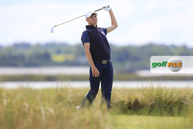 Reece Black (Hilton Templepatrick Golf Club) during the 2nd round of the East of Ireland championship, Co Louth Golf Club, Baltray, Co Louth, Ireland. 03/06/2017<br /> Picture: Golffile | Fran Caffrey<br /> <br /> <br /> All photo usage must carry mandatory copyright credit (&copy; Golffile | Fran Caffrey)