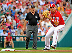 9 July 2011: Washington Nationals third baseman Ryan Zimmerman in action against the Colorado Rockies at Nationals Park in Washington, District of Columbia. The Nationals were edged out by the Rockies 2-1, dropping the second game of their 3-game series. Mandatory Credit: Ed Wolfstein Photo