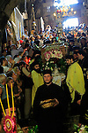 Israel, Jerusalem, a procession with the icon of Virgin Mary at Mary's Tomb on the Feast of the Assumption