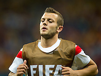 Jack Wilshere of England warming up