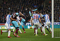 West Ham United's Angelo Ogbonna goes close with a second half header<br /> <br /> Photographer Rob Newell/CameraSport<br /> <br /> The Premier League - Huddersfield Town v West Ham United - Saturday 13th January 2018 - John Smith's Stadium - Huddersfield<br /> <br /> World Copyright &copy; 2018 CameraSport. All rights reserved. 43 Linden Ave. Countesthorpe. Leicester. England. LE8 5PG - Tel: +44 (0) 116 277 4147 - admin@camerasport.com - www.camerasport.com