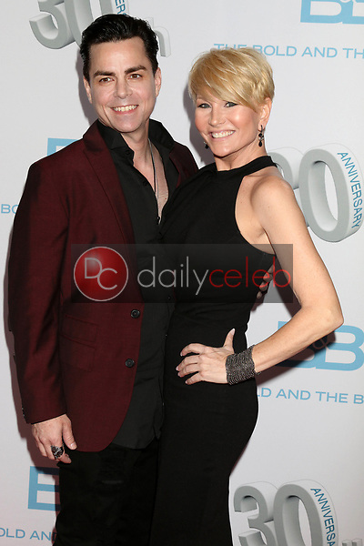 "Mick Cain, Schae Harrison<br /> at the ""The Bold and The Beautiful"" 30th Anniversary Party, Clifton's Downtown, Los Angeles, CA 03-18-17<br /> David Edwards/DailyCeleb.com 818-249-4998"