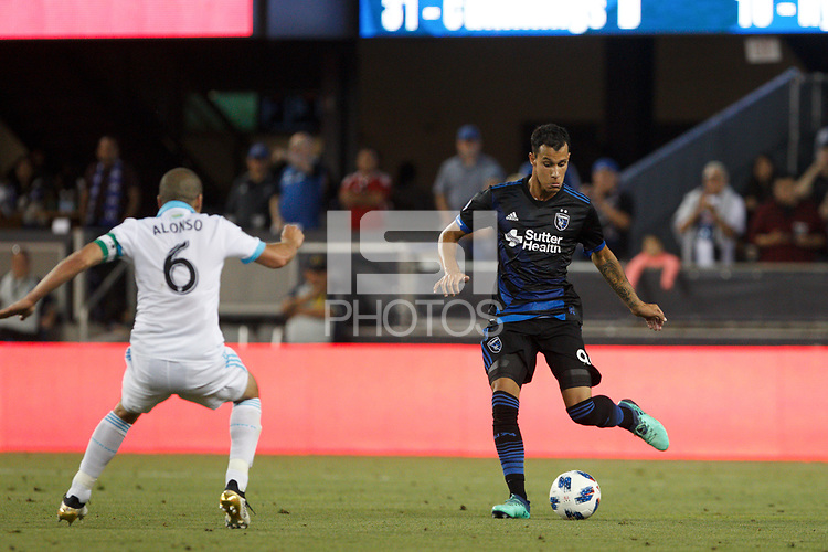 San Jose, CA - Wednesday July 25, 2018: Luis Felipe during a Major League Soccer (MLS) match between the San Jose Earthquakes and the Seattle Sounders FC at Avaya Stadium.
