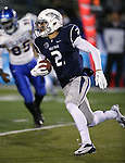 Nevada's Richy Turner runs against San Jose State in an NCAA college football game in Reno, Nev., on Saturday, Nov. 16, 2013. (AP Photo/Cathleen Allison)