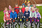 Children at First Steps Montessori School in Castleisland  are improving their co-ordination and balance with the YBike Motor Skill Programme. .Back L-R Erin O'Connor, Aimee  Browne, Larry Nolan, Toma?s  Jones Ayrton Burke and Elle Mai Walsh.Front L-R Grace O'Callaghan , Shane Kelliher, Jack O'Donoghue, Killian Dennehy, Elle Killington and Amy Rose O'Sullivan