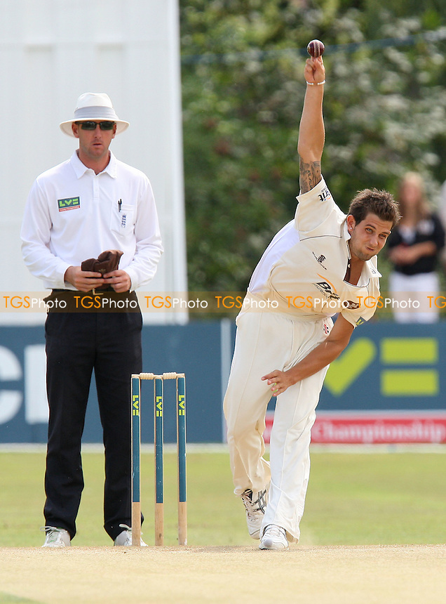 Jade Dernbach of Surrey is seen in bowling action - Essex CCC vs Surrey CCC - LV County Championship Division Two Cricket at Castle Park, Colchester -  20/08/09 - MANDATORY CREDIT: Gavin Ellis/TGSPHOTO - Self billing applies where appropriate - Tel: 0845 094 6026