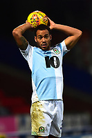 Blackburn Rovers' Elliott Bennett takes a throw-in<br /> <br /> Photographer Richard Martin-Roberts/CameraSport<br /> <br /> The EFL Sky Bet Championship - Blackburn Rovers v West Bromwich Albion - Tuesday 1st January 2019 - Ewood Park - Blackburn<br /> <br /> World Copyright &not;&copy; 2019 CameraSport. All rights reserved. 43 Linden Ave. Countesthorpe. Leicester. England. LE8 5PG - Tel: +44 (0) 116 277 4147 - admin@camerasport.com - www.camerasport.com
