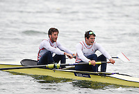 Caversham. Berkshire. UK<br /> GBR M2-. Bow Alan SINCLAIR and Stewart INNES.<br /> 2016 GBRowing European Team Announcement,  <br /> <br /> Wednesday  06/04/2016 <br /> <br /> [Mandatory Credit; Peter SPURRIER/Intersport-images]