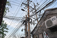 Power lines in Beijing, China