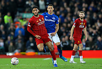 Liverpool's Joe Gomez gets away from Everton's Richarlison<br /> <br /> Photographer Alex Dodd/CameraSport<br /> <br /> Emirates FA Cup Third Round - Liverpool v Everton - Sunday 5th January 2020 - Anfield - Liverpool<br />  <br /> World Copyright © 2020 CameraSport. All rights reserved. 43 Linden Ave. Countesthorpe. Leicester. England. LE8 5PG - Tel: +44 (0) 116 277 4147 - admin@camerasport.com - www.camerasport.com