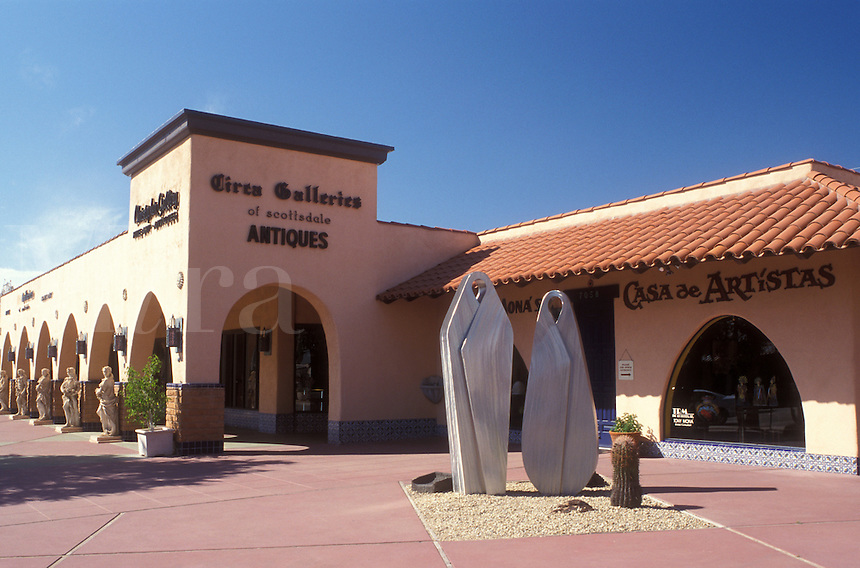 Scottsdale, Arizona, AZ, Galleries at Main Street Arts District in downtown Scottsdale.