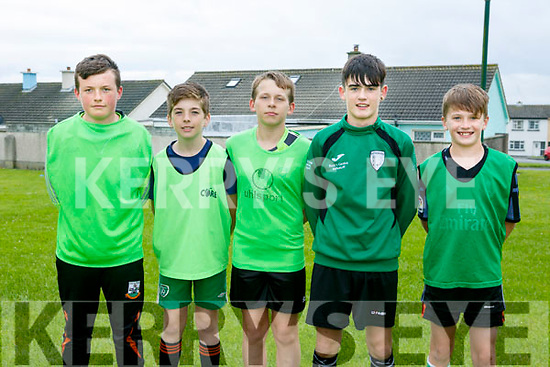 Enjoying the Ballyheigue Summer Festival Soccer Blitz at Marian Park Ballyheigue on Monday were Team 'Da Lads' Luke Bowler, David O'Sullivan, Darragh Carney, Jordan Goggin, Felim O'Sullivan