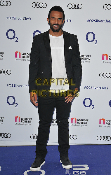 Craig David at the Nordoff Robbins O2 Silver Clef Awards 2016, Grosvenor House Hotel, Park Lane, London, England, UK, on Friday 01 July 2016.<br /> CAP/CAN<br /> &copy;CAN/Capital Pictures