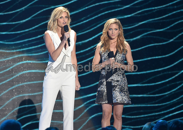 10 June 2015 - Nashville, Tennessee - Erin Andrews, Brittany Snow. 2015 CMT Music Awards held at Bridgestone Arena. Photo Credit: Laura Farr/AdMedia
