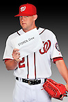 25 February 2011: Washington Nationals' pitcher Drew Storen poses for his Photo Day portrait at Space Coast Stadium in Viera, Florida. Mandatory Credit: Ed Wolfstein Photo