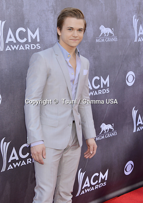 Hunter Hayes 109 at the  ACM Awards 2014 at the MGM Grand in Las Vegas.