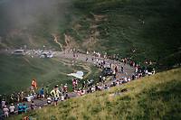 up the last climb of the 2018 Tour: the Col d'Aubisque (HC/1709m/16.6km@4.9%)<br /> <br /> Stage 19: Lourdes &gt; Laruns (200km)<br /> <br /> 105th Tour de France 2018<br /> &copy;kramon