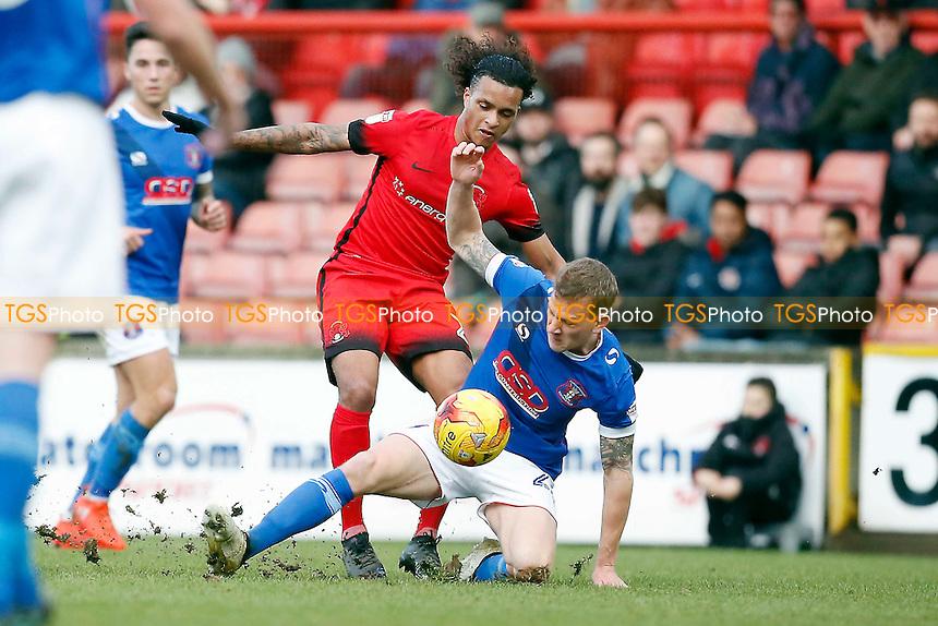 O's Sandro Semedo & tom miller during Leyton Orient vs Carlisle United