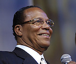 Minister Louis Farrakhan speaks at the Essence Music Festival at Reliant Stadium Sunday July2,2006.