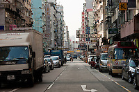A busy street in Kowloon, Hong Kong