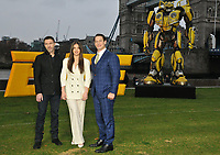 Travis Knight, Hailee Steinfeld and John Cena at the &quot;Bumblebee&quot; film cast photocall, Potters Fields Park, Tower Bridge Road, London, England, UK, on Wednesday 05 December 2018.<br /> CAP/CAN<br /> &copy;CAN/Capital Pictures