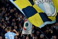 Ciro Immobile of SS Lazio celebrates after scoring the goal of 1-0 for his side<br /> Roma 7-11-2019 Stadio Olimpico <br /> Football Europa League 2019/2020 <br /> SS Lazio - Celtic <br /> Photo Andrea Staccioli / Insidefoto