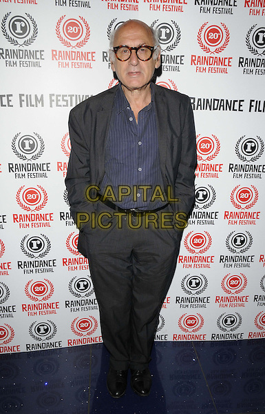 Michael Nyman.attended the 'Trashed' official screening, Raindance Film Festival, Apollo cinema, Regent St., London, England, UK, .29th September 2012..full length blue shirt grey gray suit  glasses hands in pockets .CAP/CAN.©Can Nguyen/Capital Pictures.